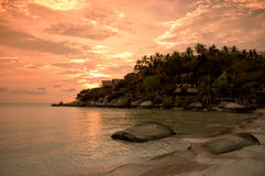 Sunset at Ko Thao, Thaialnd Stock Images