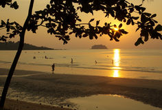 Sunset on Koh Chang, Thailand Royalty Free Stock Photo