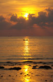 Sunset on Koh Chang, Thailand Royalty Free Stock Images