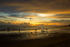 Sunset on Koh Chang. Thailand, Koh Chang, Klong Prao beach Royalty Free Stock Photos
