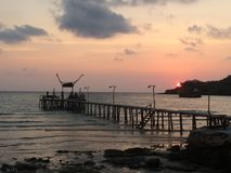 Sunset in Koh Kood. Sunset in a beach in Koh Kood, Thailand Royalty Free Stock Photography