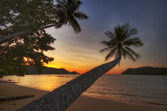Sunset of Koh Mak Royalty Free Stock Photography
