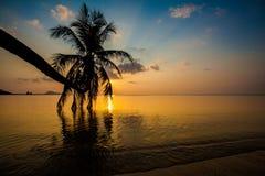 Sunset on Koh Phangan island Royalty Free Stock Photo