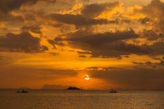 Sunset in Koh Phangan, Thailand Royalty Free Stock Image
