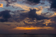 Sunset in Koh Phangan, Thailand Royalty Free Stock Images