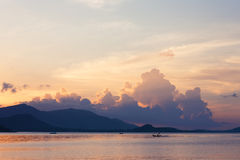 Sunset on koh samui. A photo of a sail boat in sunset Royalty Free Stock Photo