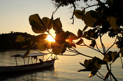 Sunset at Koh Ta Kiev island Royalty Free Stock Photography
