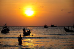 Sunset of Koh Tao Island Stock Photos