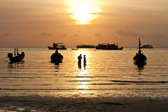 Sunset. Koh Tao island, Thailand Royalty Free Stock Photos