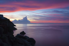 Sunset at Koh Tao, Thailand Stock Photo