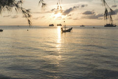 Sunset in Koh Tao, Thailand royalty free stock photos