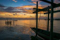Sunset at koh yo Stock Photo