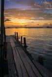 Sunset at koh yo Stock Photography