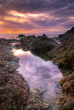 sunset kolorze lila Zdjęcie Royalty Free