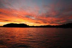 sunset kolorze lila bay Obraz Royalty Free
