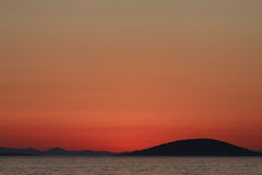 Sunset on the Kornati islands Royalty Free Stock Images
