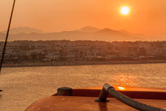 Sunset in Kos Greece Stock Photos