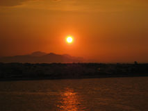 Sunset in Kos Greece Stock Images