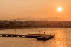 Sunset in Kos Greece Royalty Free Stock Photo