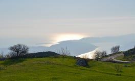 Sunset in Kotor bay, Montenegro Royalty Free Stock Photography