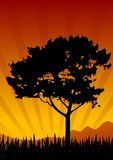sunset krajobrazu royalty ilustracja