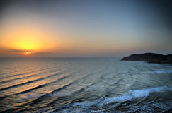 sunset krajobrazu Obrazy Stock