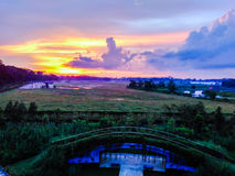 Sunset at Kranji marshes Royalty Free Stock Images