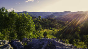 Sunset. In Kremnicke Vrchy, Slovakia Royalty Free Stock Photography