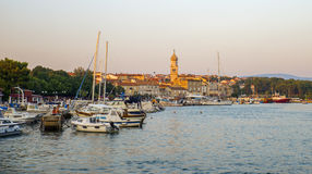 Sunset on Krk island, Croatia Stock Photography