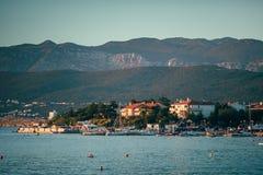 Sunset on krk island croatia Royalty Free Stock Image