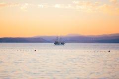 Sunset on krk island croatia Royalty Free Stock Photos