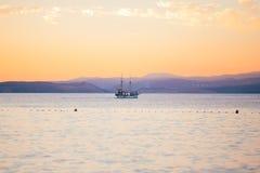 Sunset on krk island croatia Stock Photo