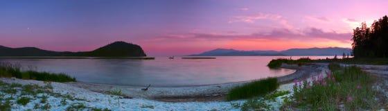 Sunset in a Krutaya bay.Lake Baikal Royalty Free Stock Photos