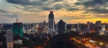 The sunset of Kuala Lumpur Royalty Free Stock Photo