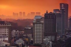 Sunset in Kuala Lumpur Royalty Free Stock Photo