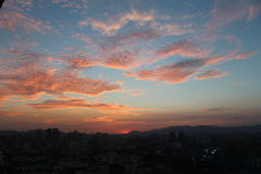 Sunset at Kuala Lumpur Skyline Stock Photo