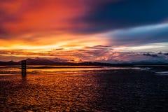 Sunset at Kuala Perlis. Sunset view from jetty at Kuala Perlis Stock Image