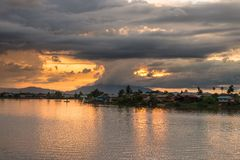 Sunset in Kuching, Borneo Royalty Free Stock Images