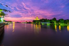 Sunset in Kuching, Borneo Royalty Free Stock Photos