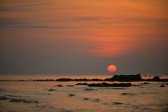 Sunset at Kudat, Sabah, Malaysia Royalty Free Stock Image