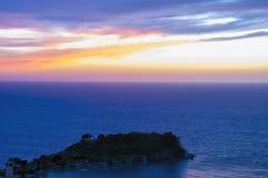 Sunset in Kusadasi,Turkey. Pigeon Island Castle during Sunset in Kusadasi,Turkey stock photography