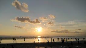 Sunset. Kuta Bali Indonesia Royalty Free Stock Photography