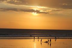 Sunset2. Kuta beach sunset Stock Photo