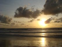 Sunset at Kuta Beach, Bali Island stock images