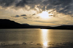 Sunset on the Kyle of Durness. Sun setting on the Kyle of Durness, Sutherland Stock Images