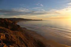 Sunset La Jolla Beach Cove Stock Photo