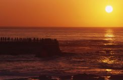 Sunset in La Jolla, California Royalty Free Stock Photo