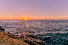 Sunset at La Jolla, California Royalty Free Stock Photo