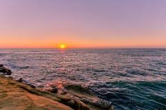 Sunset at La Jolla, California Royalty Free Stock Photo