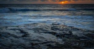 San Diego California Coastline in Spring. Sunset in La Jolla California USA stock image